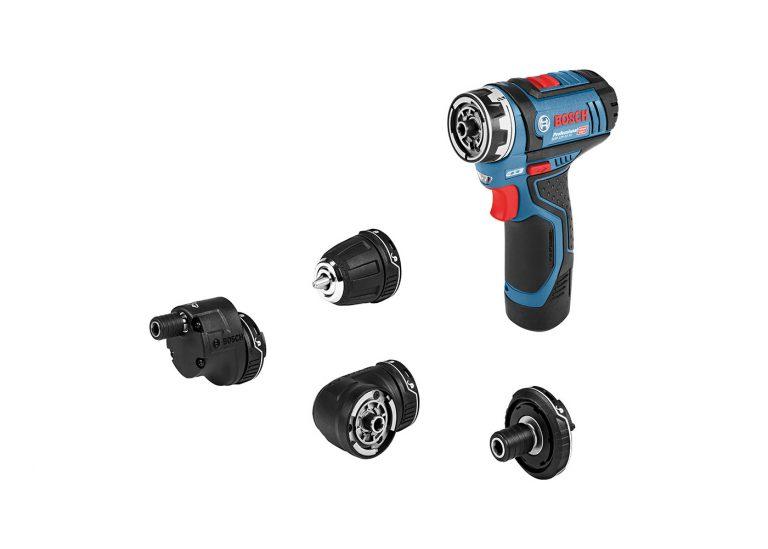 Test visseuse Bosch GSR 12V 15 FC et accessoires FlexiClick
