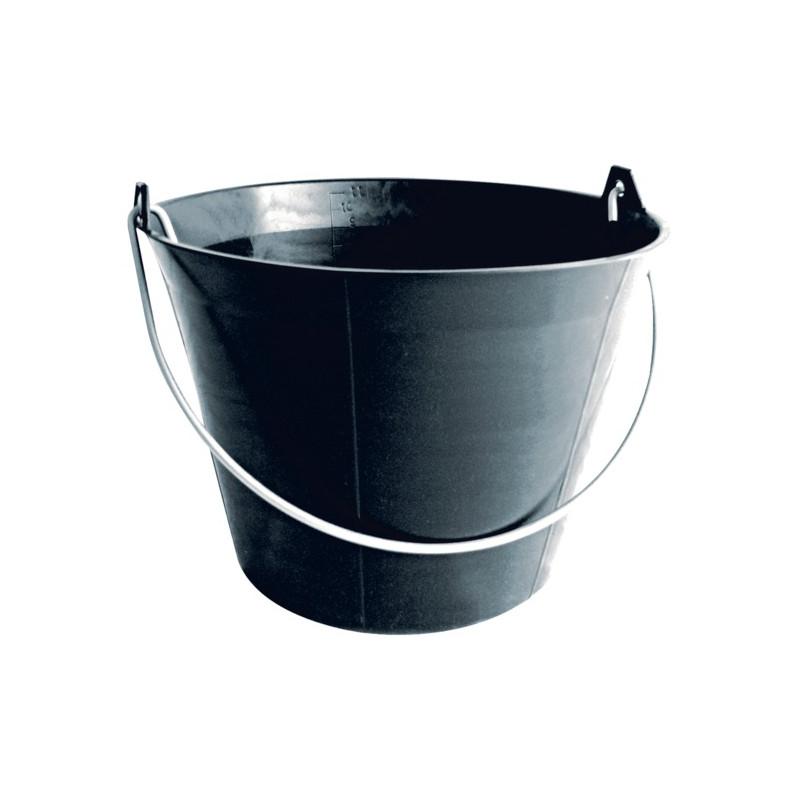 seau noir maçon propreté chantier
