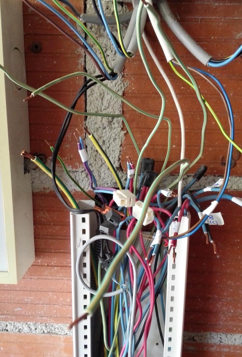 cablage électrique travaux tableau