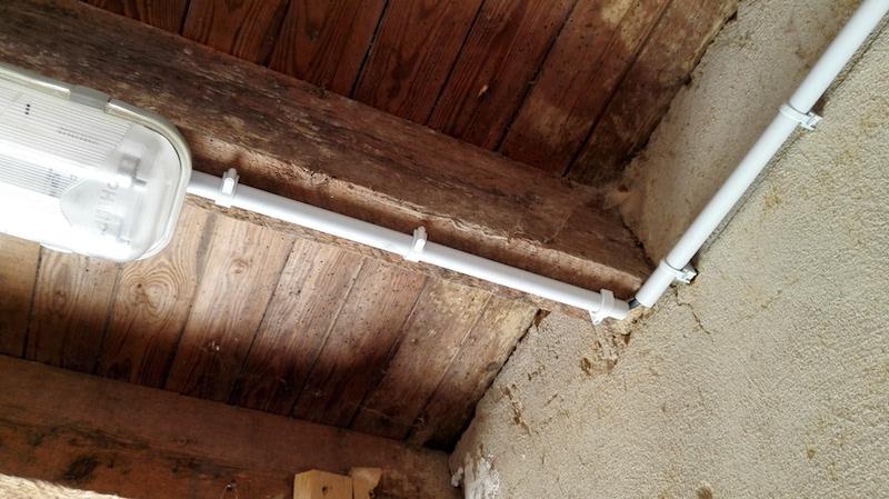 gaine, tube IRL et cable électrique