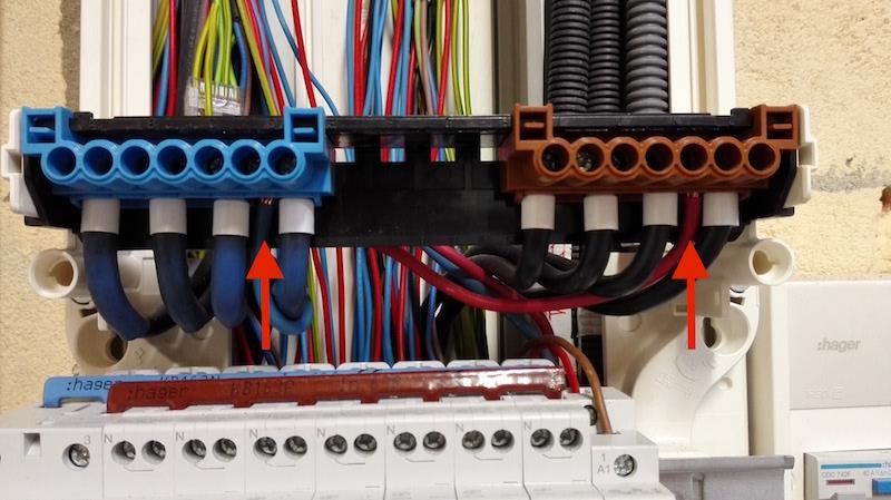 alimentation électrique 6mm2 tableau divisionnaire