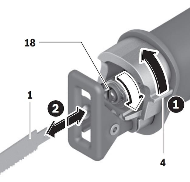 changer une lame du la Scie sabre Bosch sans fil GSA 18V-32