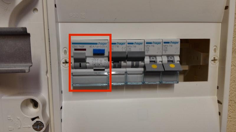 section de fil électrique et calibre interrupteur différentiel