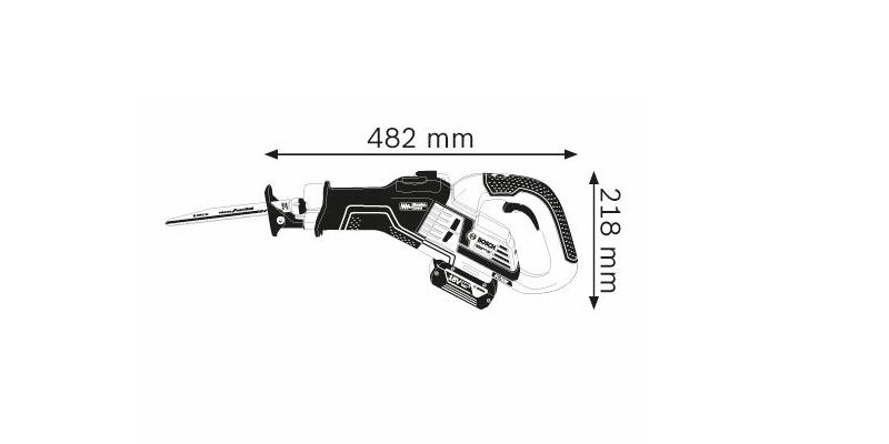 Scie sabre Bosch sans fil GSA 18V-32 test et avis