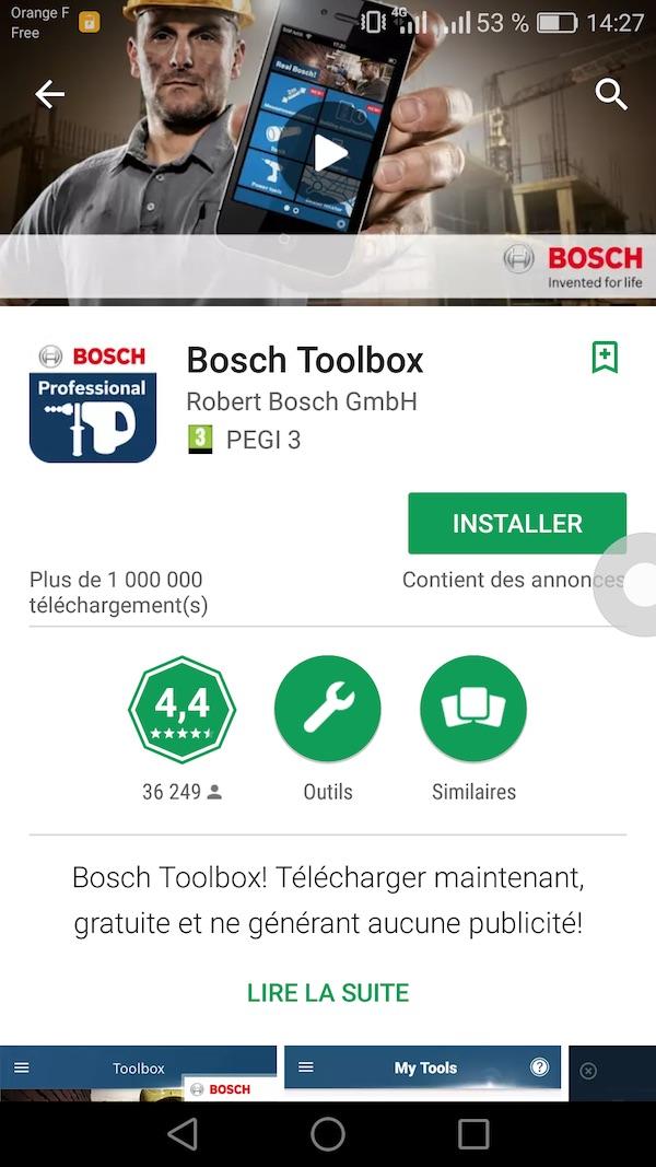 test outillage connecté Bosch meuleuse angulaire PSC 18V