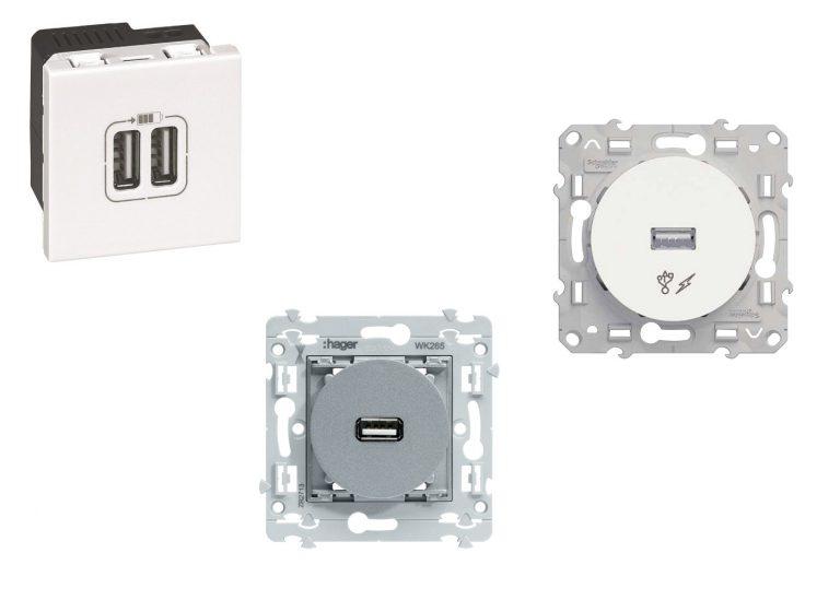 Prise USB murale Encastrable: Choix, fonctionnement et cablage électrique