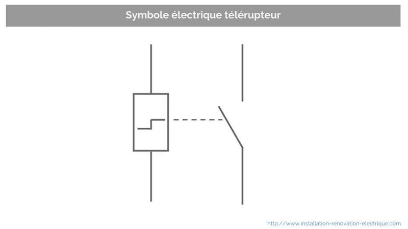 Symbole électrique télérupteur TL