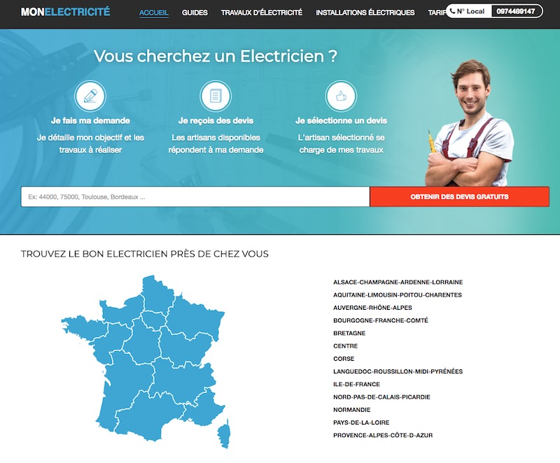 Avis pour trouver un électricien sur le net