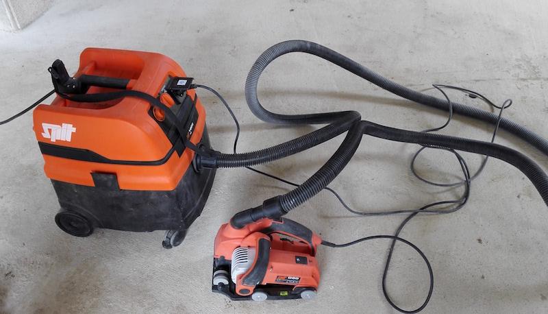 test sur chantier de la rainureuse D60 de la marque spit