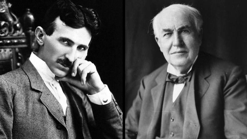 guerre des courants Tesla Edison