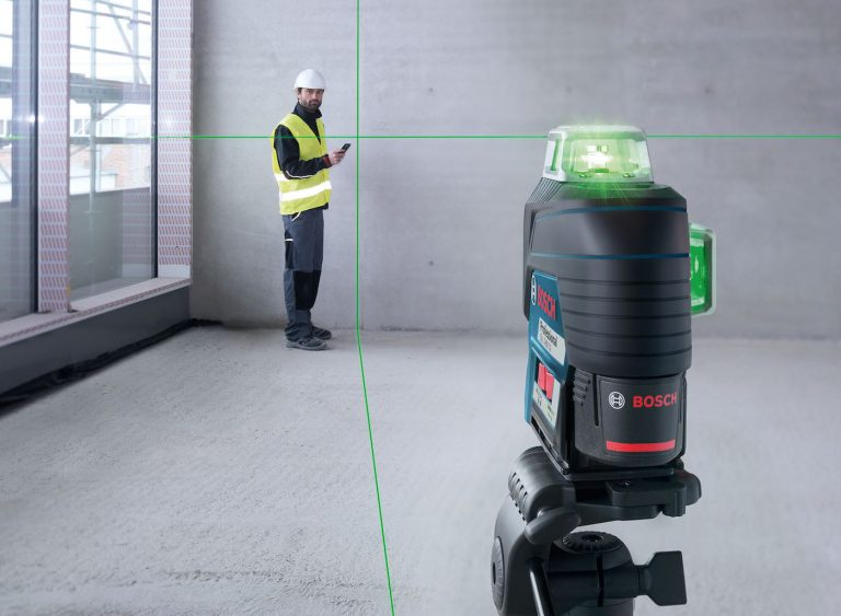 Test du niveau Laser Bosch vert GLL 3-80 CG avec connexion bluetooth