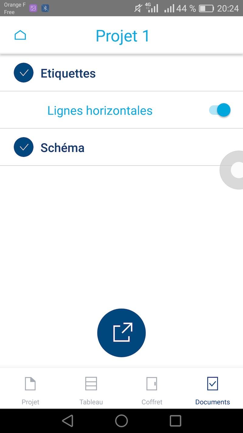 schéma unifilaire hager avec application pour smartphone
