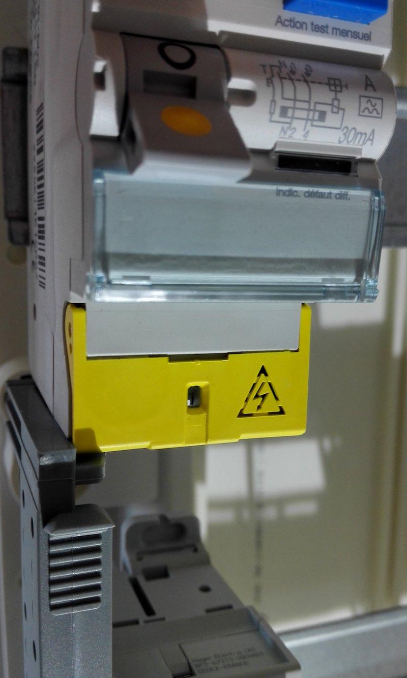 Interrupteur différentiel Hager 63A installation