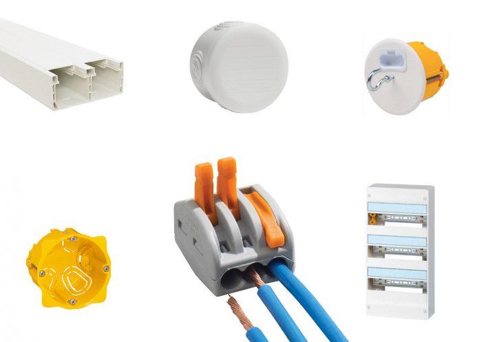 Câblages électriques: boite de dérivation, moulure, DCL, tableau électrique