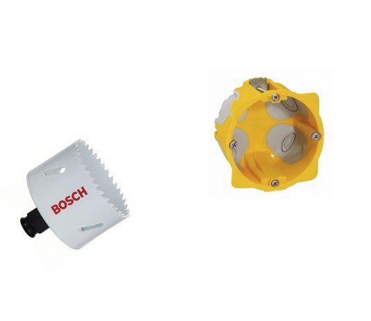 Taille trou scie cloche pour installer prise électrique