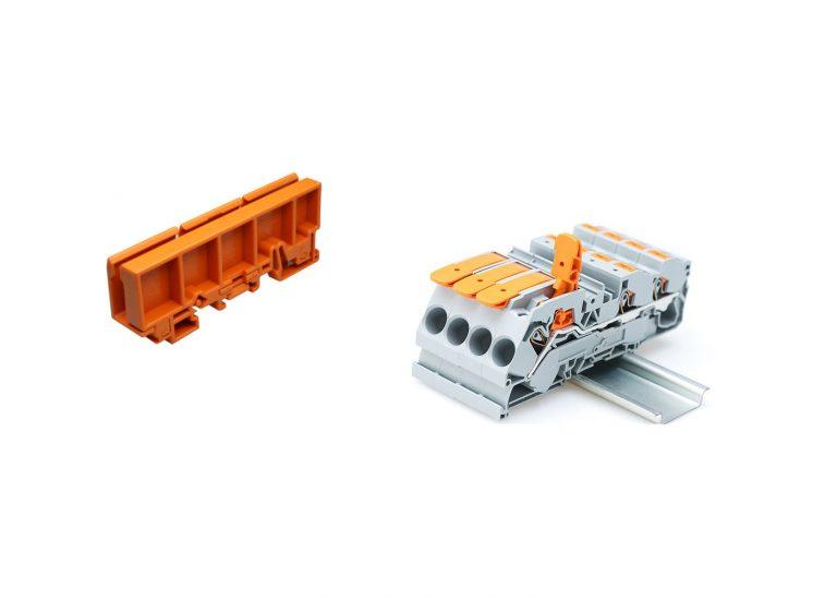Test borne sur rail Wago TopJob S et support de bornier Wago