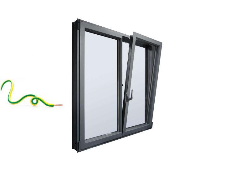 Mise à la terre des huisseries et fenêtres en métal (aluminium)