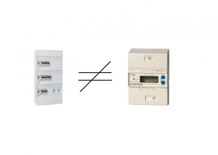 Différence entre compteur et tableau électrique