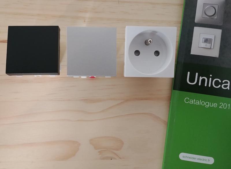 coloris fonction appareillage schneider UNICA