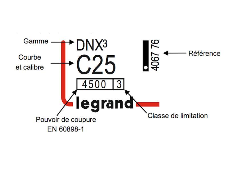 Disjoncteur courbe C Legrand 25 ampères