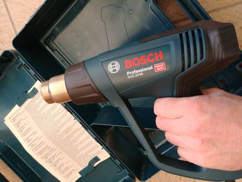 essai Bosch GHG 23-66 pistolet thermique