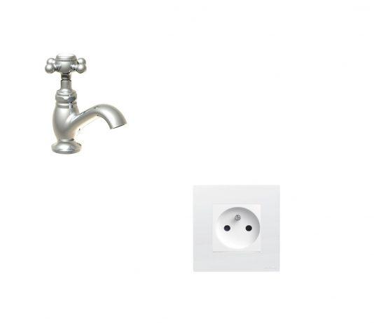 prise électrique et robinet, quelle est la distance à respecter