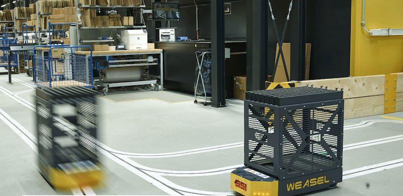 production carton et déchets dans les usines automatisées