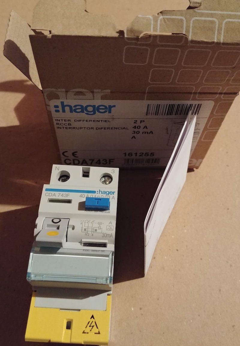 notice papier interrupteur différentiel Hager