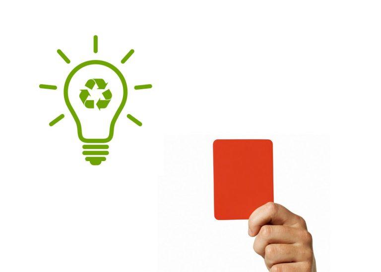 Recyclage en électricité et gestion des déchets, carton rouge!