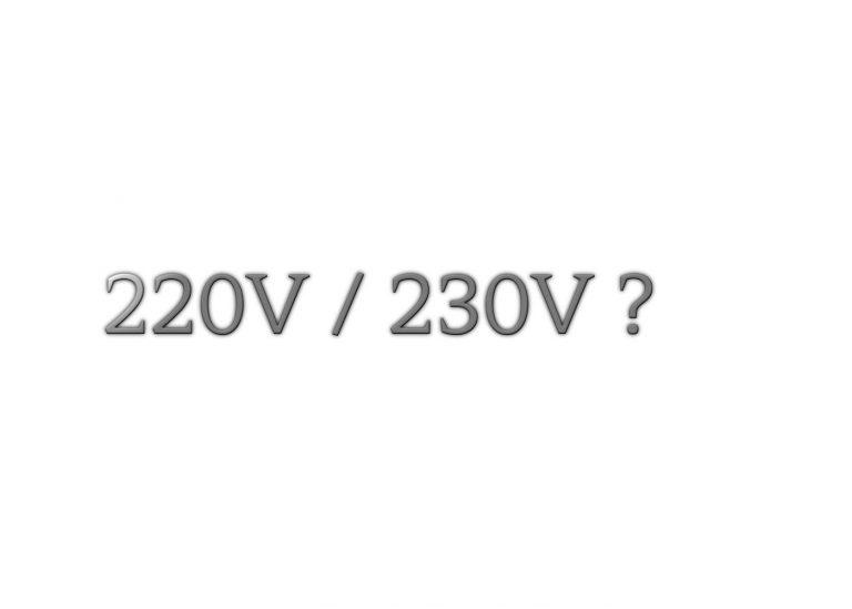 Valeur de la Tension électrique monophasée: 220V ou 230V?