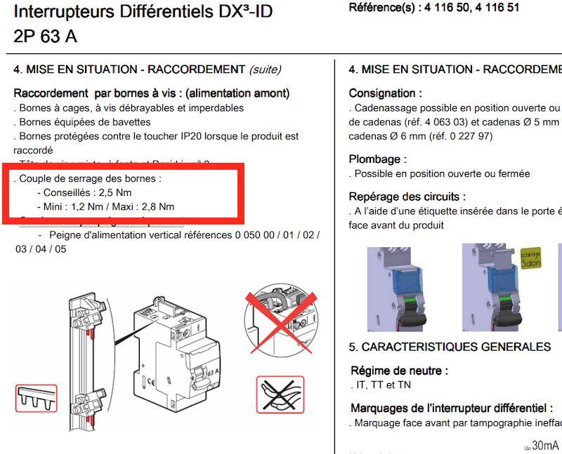 explication serrage vis disjoncteur tableau électrique