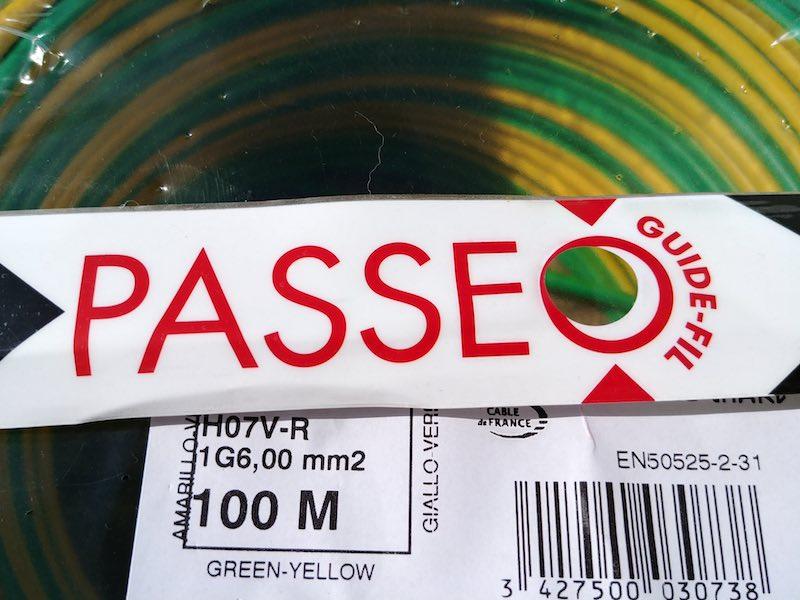 bobine de fil électrique 6mm2 PASSEO Nexans