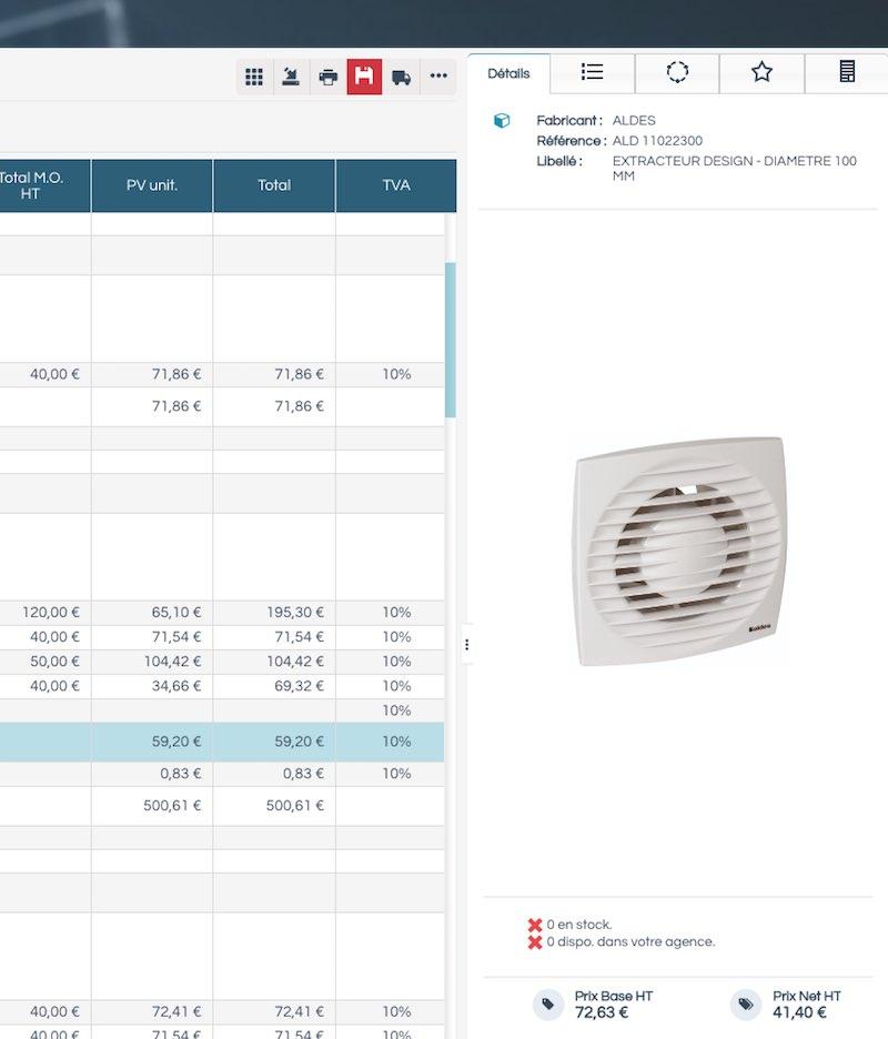 logiciel Esabora pour gérer les commandes de matériel électrique