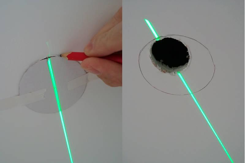 réalisation d'un trou pour spot dans du placo