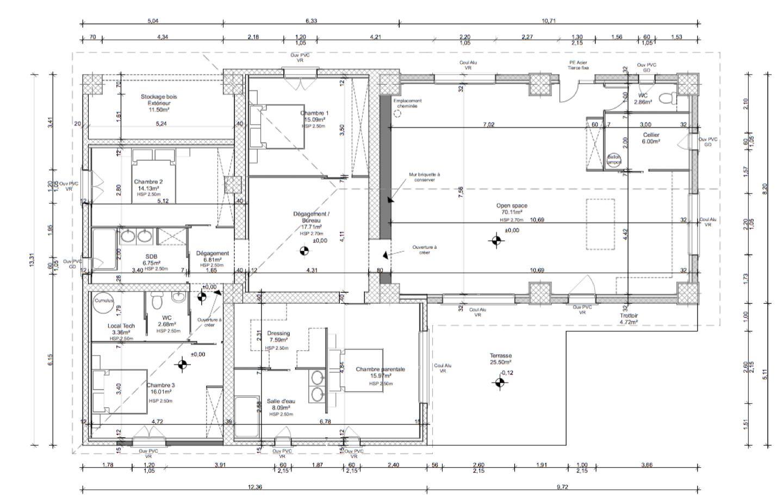 test de logiciel CAO pour électricien avec plan architectural