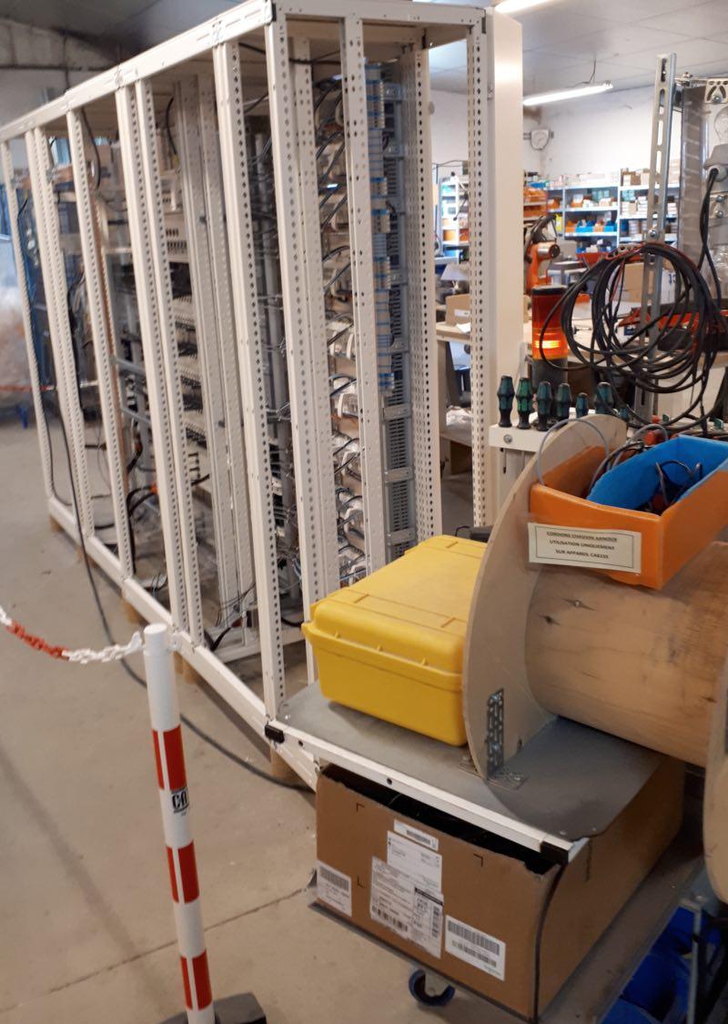 exemple de cablage d'armoire électrique, baie de test