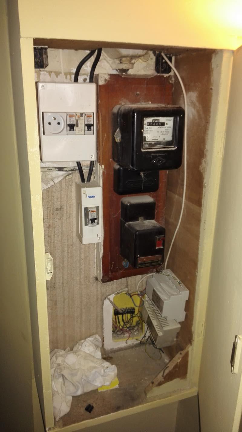 tableau électrique parties communes immeuble
