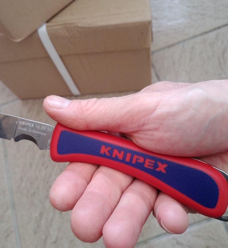 avis prise en main couteau d'électricien Knipex