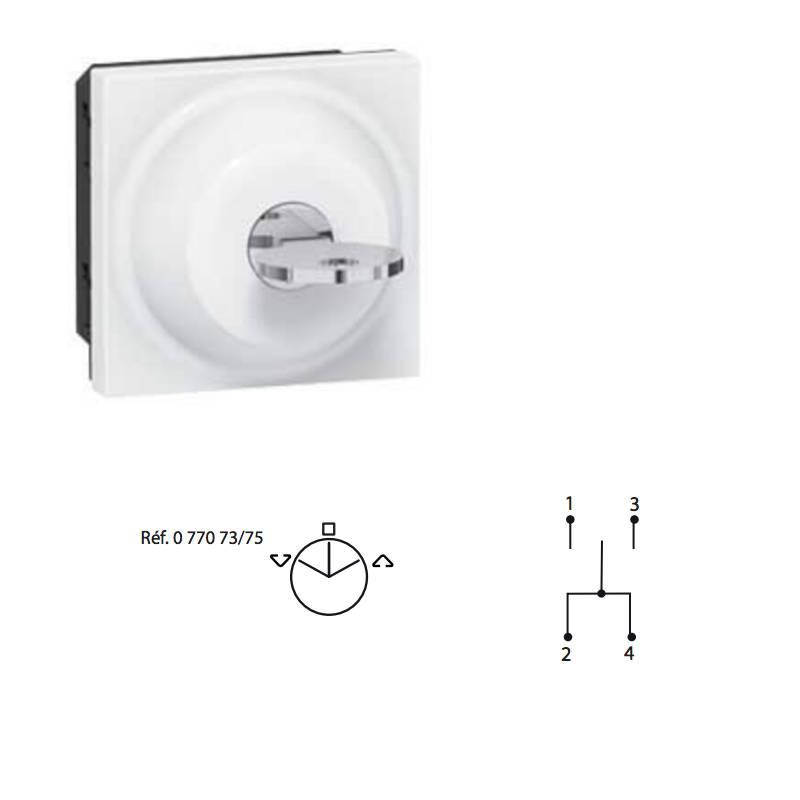 bouton a clé pour le Schéma électrique du rideau métallique