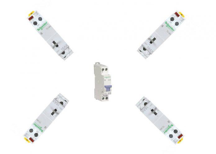 cabler deux télérupteurs sur un même disjoncteur