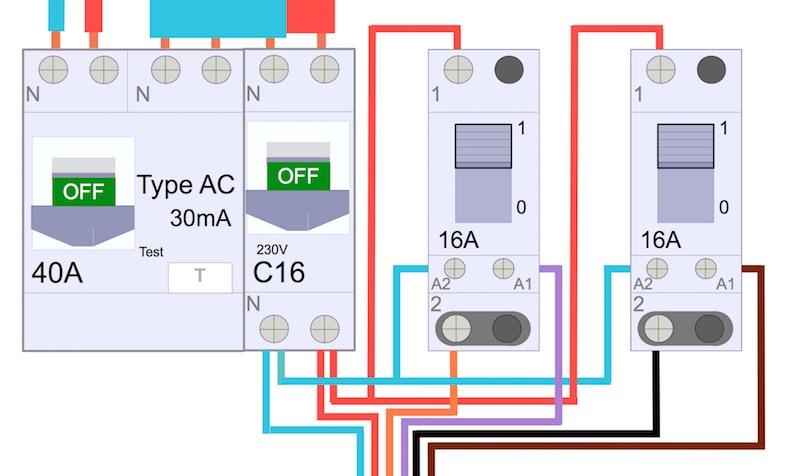 comment brancher deux télérupteurs sous un même disjoncteur
