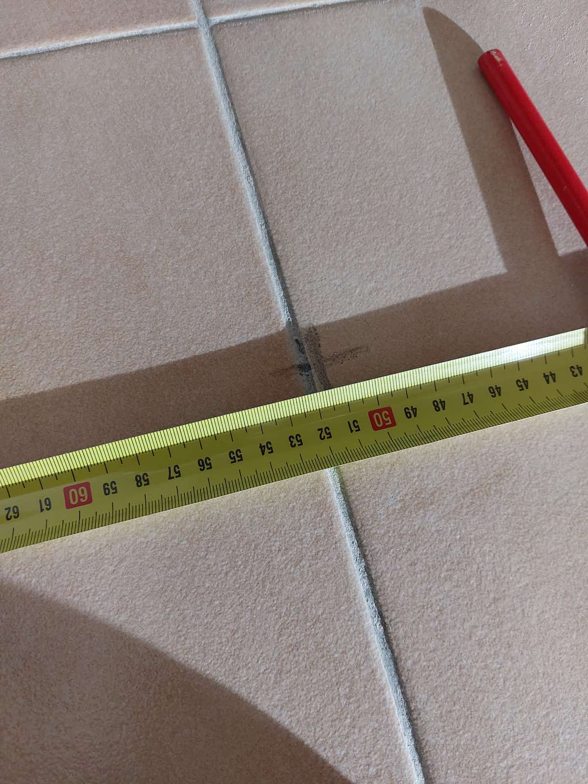 mesure de la distance entre spot au sol