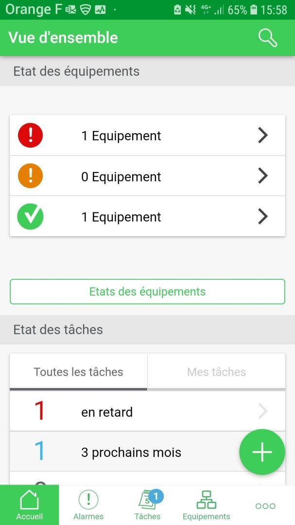 application schneider pour connexion à une armoire PrismaSet Active